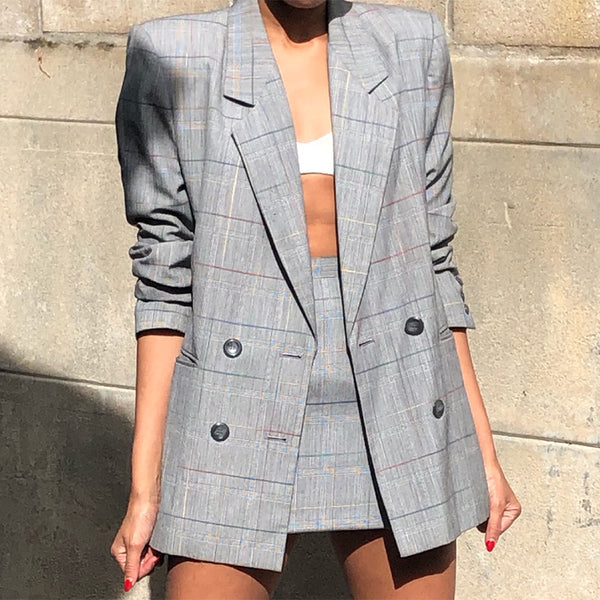 Work Long Sleeve A Lapel Printed Color Suit