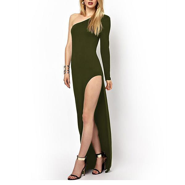 Off-The-Shoulder  High-Cut Sexy And Party Dress Evening Dress