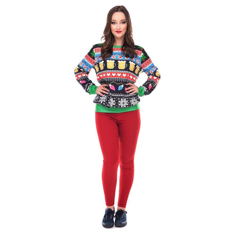 Christmas Round Neck Loose Long Sleeve Sweater