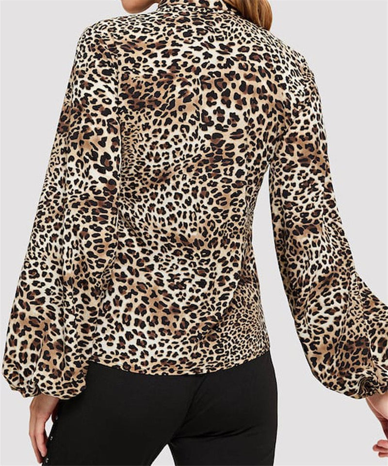 Fashionable And Sexy Leopard Print Shirt