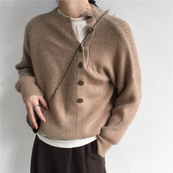 Fashion Solid Color Irregular Crocheted Sweater