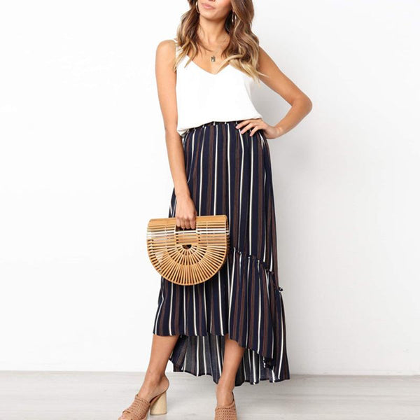 Sexy Fashion Stripe Fold Skirt