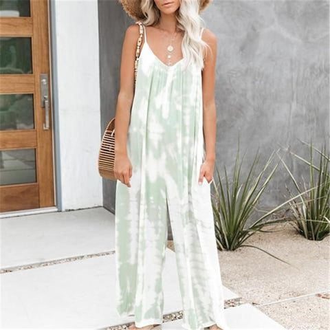 Women's V-Neck Sling Wide-Leg Jumpsuit