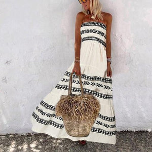 Women's Fashion Bohemian Print Dress
