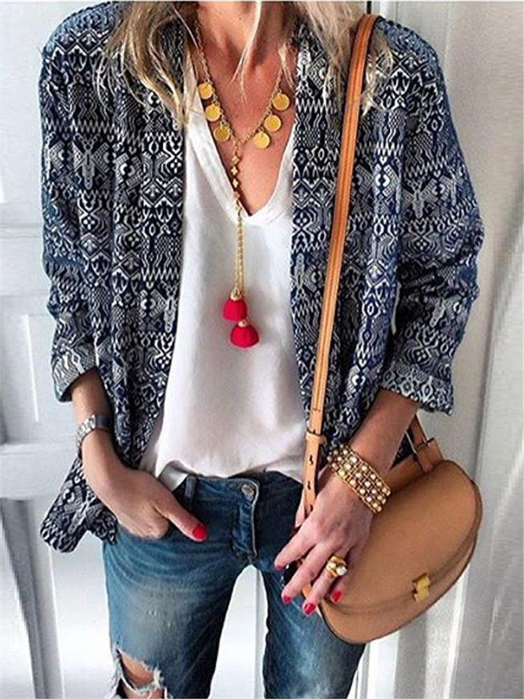 Bohemian Printed Long Sleeve Cardigans