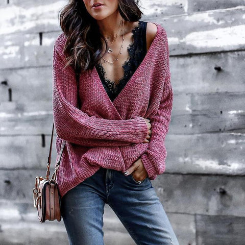 Casual Long Sleeve Solid Color Sweater