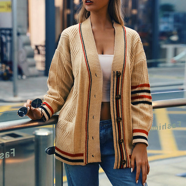 Fashion Casual Loose Knit Cardigan