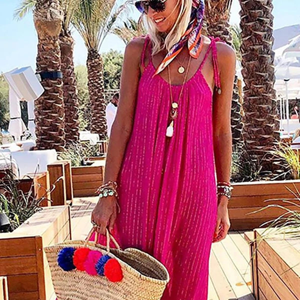 Womens Strap Vacation Dress