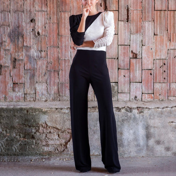 Sexy long sleeve round neck jumpsuit