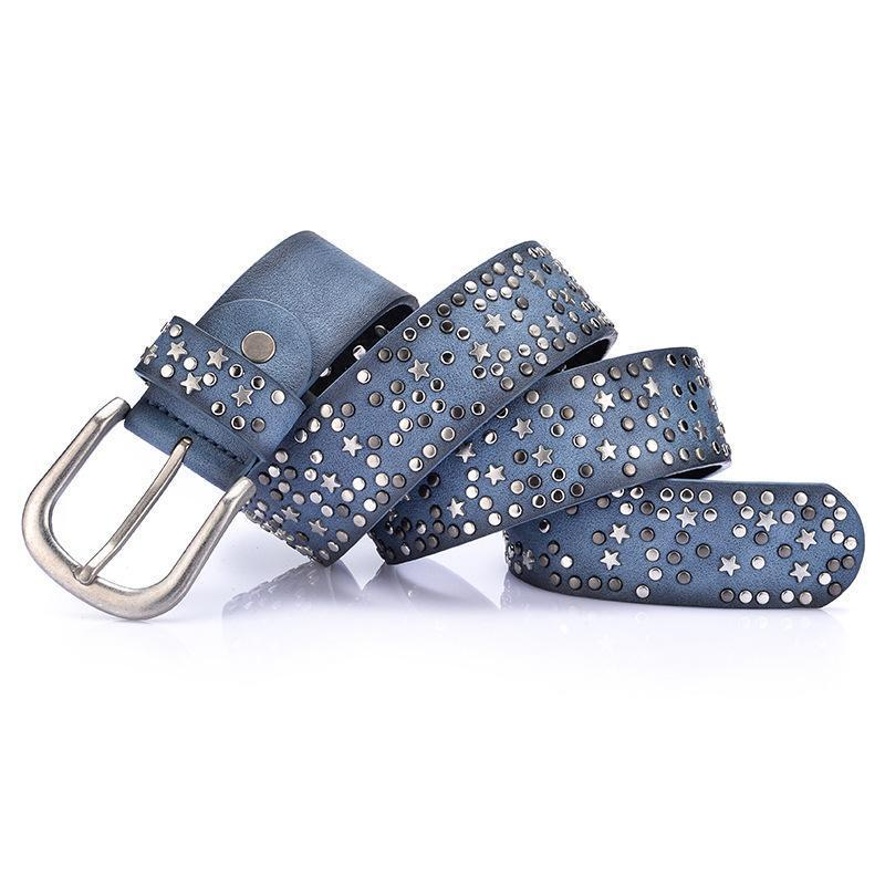 Fashion   cool rivet ladies waist bandwidth wild jeans belt