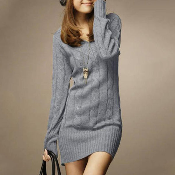 V-Neck  Plain  Blend Sweaters