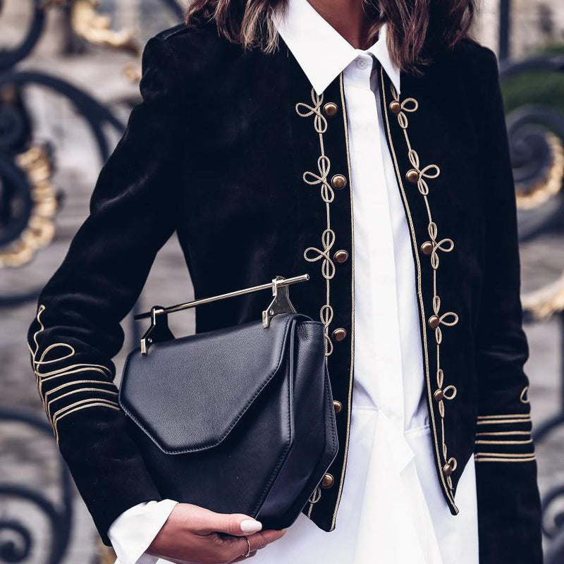 Spring Long Sleeved Military-Style Jacket