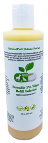 4-ALL PETS REUSABLE PET WIPES*Solution ONLY*