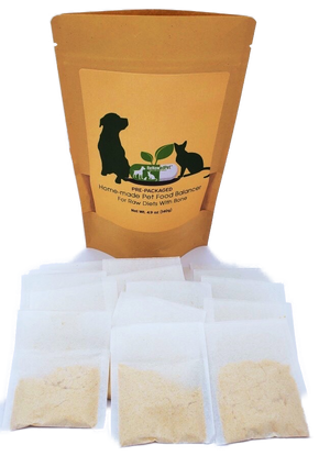 HOME-MADE PET FOOD SUPPLEMENT (Pre-Packed) *For Raw Recipes WITH Bone*