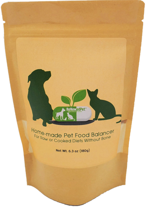 HOME-MADE PET FOOD SUPPLEMENT *For Raw/Cooked Recipes WITHOUT Bone*