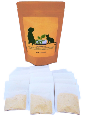HOME-MADE PET FOOD SUPPLEMENT (Pre-Packed) *For Raw/Cooked Recipes WITHOUT Bone*