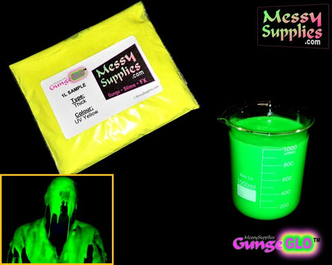 1 Litre 'Sample' Ultra-Violet GungeGLO™ • 1 Litres • MessySupplies