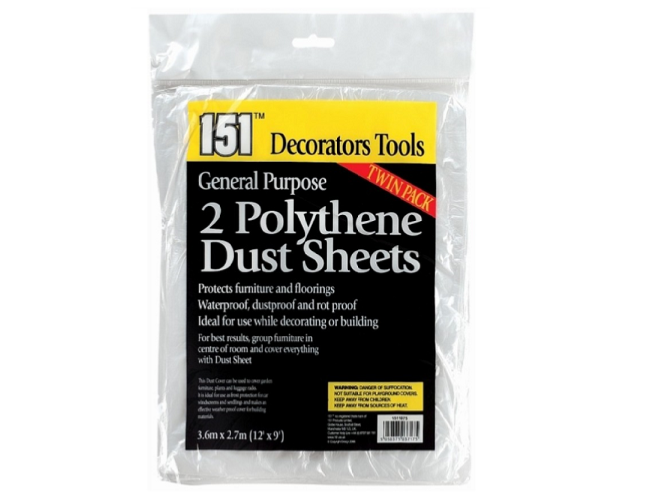Two Dust Sheets • Protection • MessySupplies