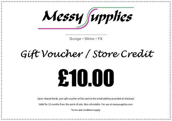 £10.00 Gift Voucher / Store Credit • Gifts • MessySupplies