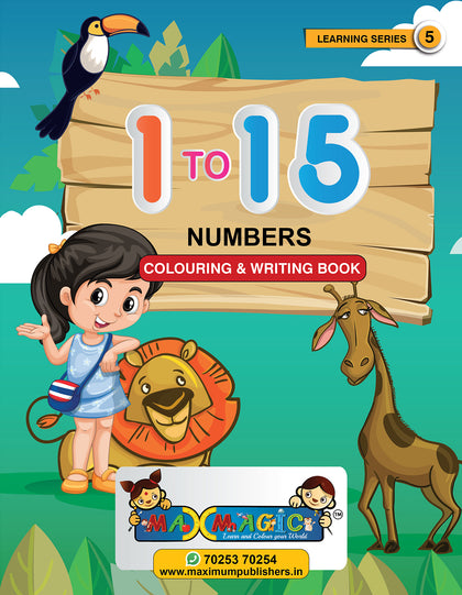 Learning and Writing Book for Kids 1 To 15 Numbers MAX MAGIC Learning Series 5 (Pack of 4)