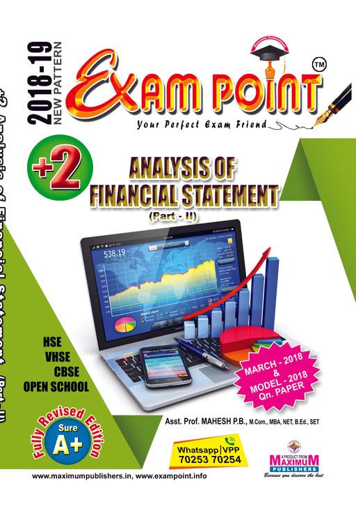 Exam Point Plus Two Analysis Of Financial Statement Part -2 Maximum Publishers Kerala Syllabus ( HSE , VHSE ,OPEN SCHOOL ) Year 2018-2019