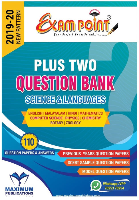 PLUS TWO SCIENCE QUESTION BANK (Subjects & Languages) For Kerala Syllabus ,HSE,VHSE,OPEN SCHOOL Students