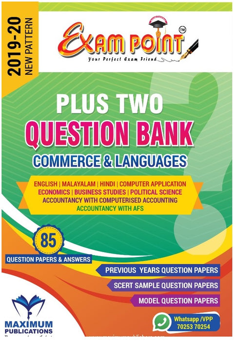 PLUS TWO COMMERCE QUESTION BANK (Subjects & Languages) For Kerala Syllabus ,HSE,VHSE,OPEN SCHOOL Students