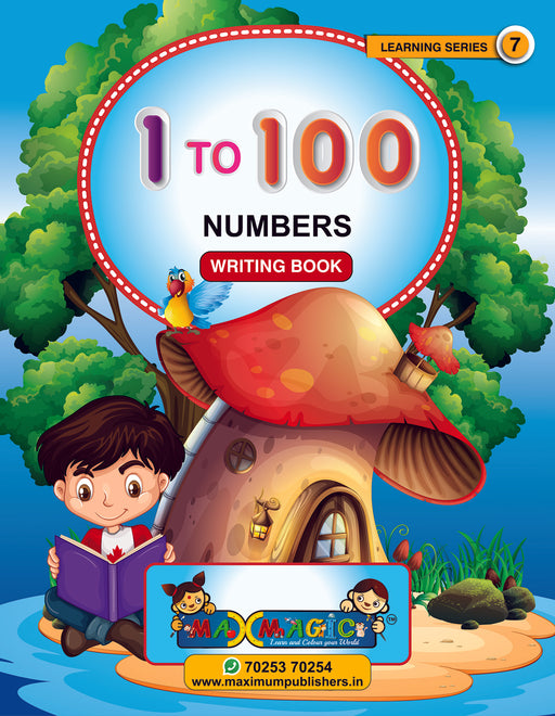 Learning And Writing Book For Kids 1-100 Numbers MAX MAGIC Learning Series 7 (Pack of 2)
