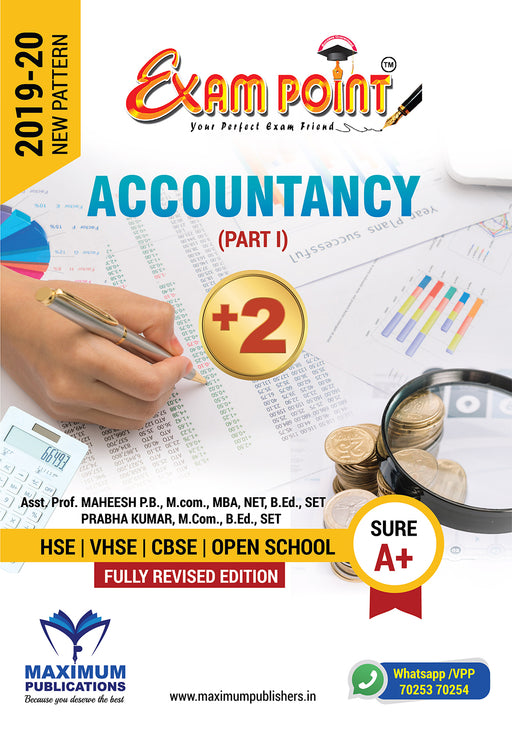 Exam Point Plus Two Accountancy Maximum Publishers Kerala Syllabus ( HSE , VHSE ,OPEN SCHOOL ) Year 2019-2020