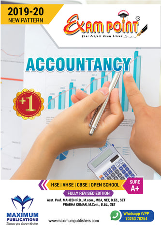 Exam Point Plus One Accountancy Maximum Publishers Kerala Syllabus ( HSE , VHSE ,OPEN SCHOOL ) Year 2019-2020