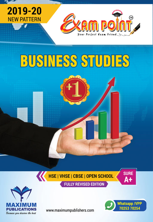 Exam Point Plus One Business Studies Maximum Publishers Kerala Syllabus ( HSE , VHSE ,OPEN SCHOOL ) Year 2019-2020