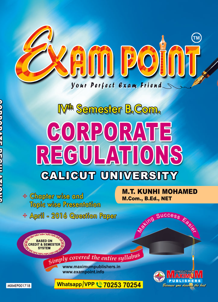 Fourth Semester Corporate Regulations For Calicut University B.Com Students