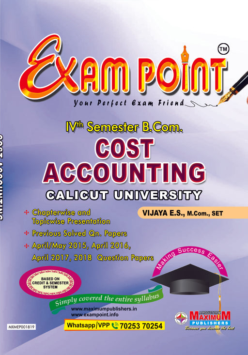 Fourth Semester Cost Accounting For Calicut University B.Com Students