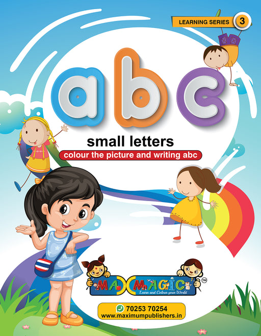 Writing And Colouring Book For Kids A to Z Small Letters MAX MAGIC Learning Series 3 (Pack of 4)