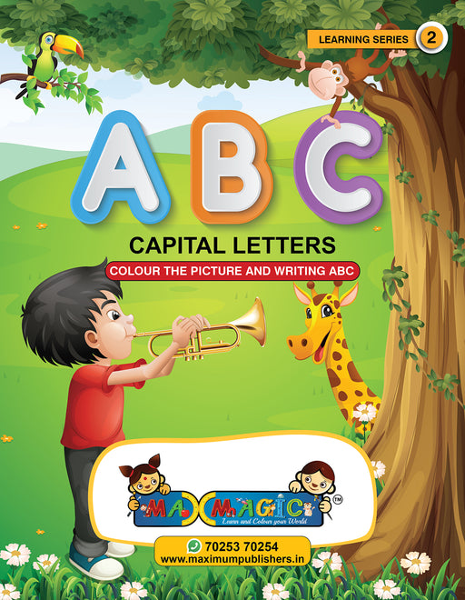 Writing And Colouring Book For Kids A to Z Capital Letters