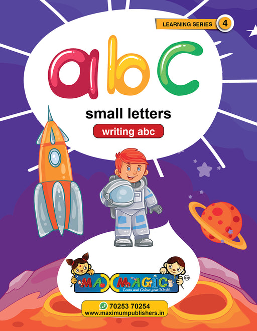 Writing And Learning Book For Kids  A to Z English Small Letters MAX MAGIC Learning Series 4 (Pack of 4)