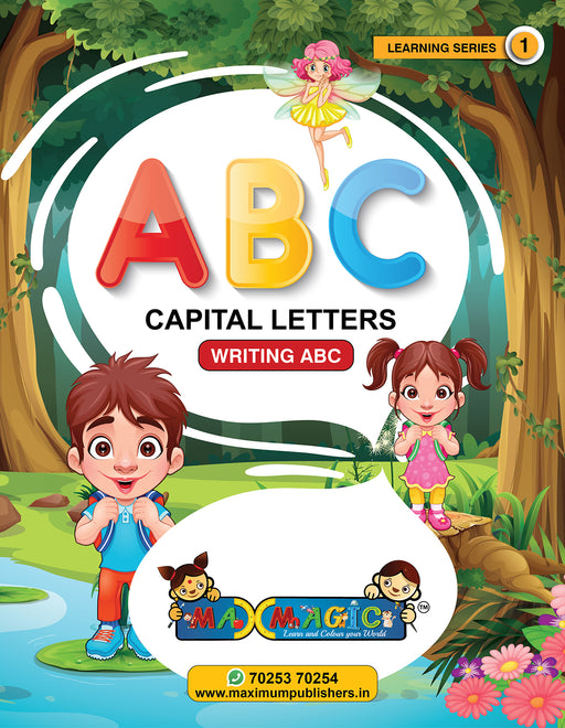 Learning and Writing Book For Kids  A to Z Capital Letters MAX MAGIC Learning Series 1 (Pack of 4)
