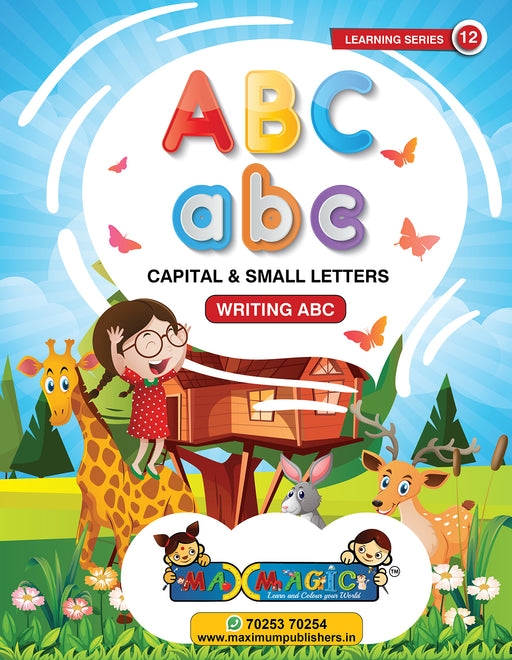 Writing And Learning Book For Kids  A to Z English Capital And Small Letters MAX MAGIC Learning Series 12 (Pack of 2)