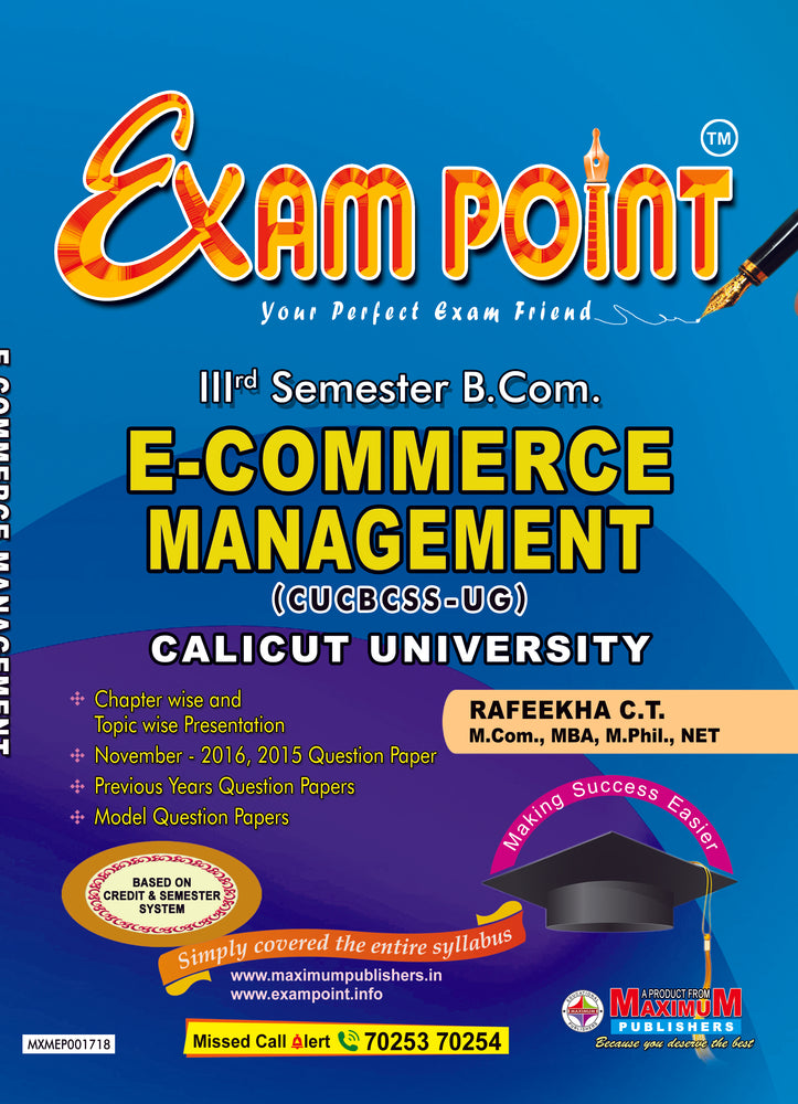 Third Semester E-Commerce Management (CUCBCSS-UG) for Calicut University B.Com Students