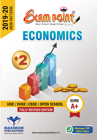Exam Point Plus Two Economics Maximum Publishers Kerala Syllabus ( HSE , VHSE ,OPEN SCHOOL ) Year 2019-2020