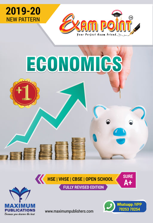 Exam Point Plus One Economics Maximum Publishers Kerala Syllabus ( HSE , VHSE ,OPEN SCHOOL ) Year 2019-2020