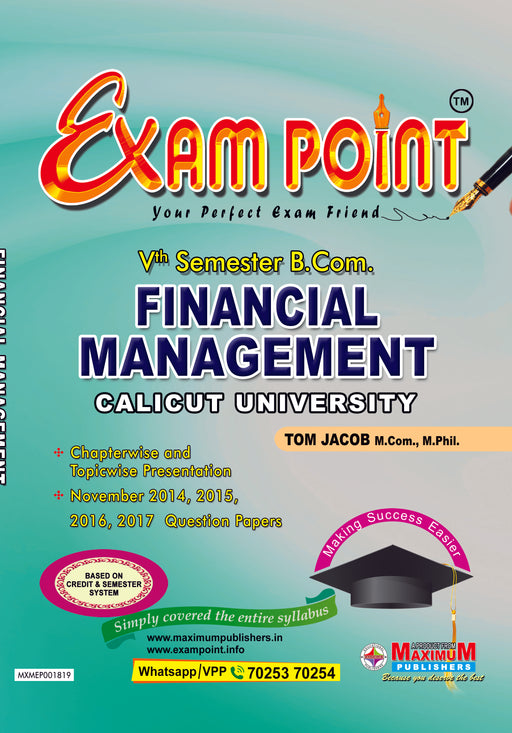 Fifth Semester Financial Management For Calicut University B.Com Students