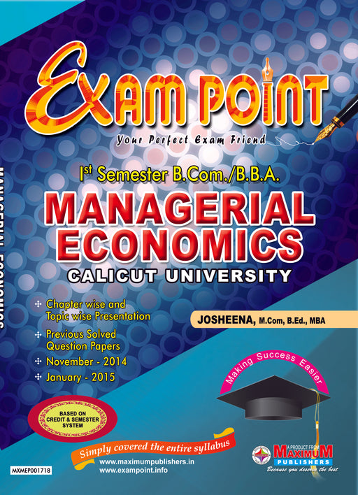 First Semester Managerial Economics for Calicut University B.Com/BBA Students