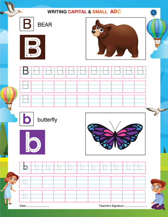 Writing And Learning Book For Kids  A to Z English Capital And Small Letters