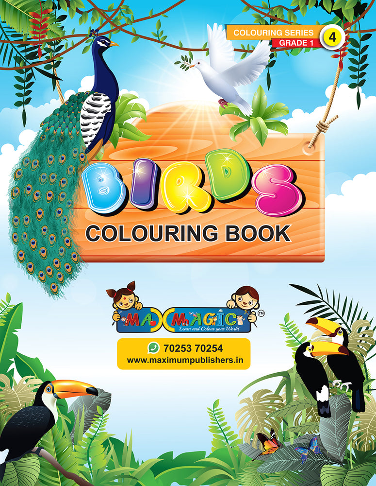 Birds Colouring Book For Kids (with description)