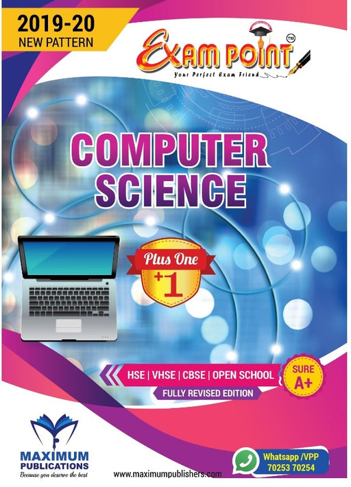 Exam Point Plus One Computer Science Maximum Publishers Kerala Syllabus ( HSE , VHSE ,OPEN SCHOOL ) Year 2019-20