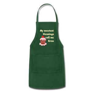 Adjustable Apron My Sweetest Blessings Call Me Gran Adjustable Apron - Memorable Treasures