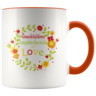 Grandchildren Complete the Circle of Love - Bright Colored Mug