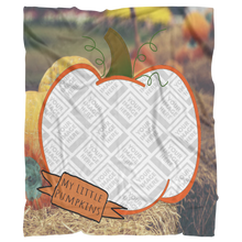 Load image into Gallery viewer, Blanket Template My Little Pumpkin Picture This™ Personalized Plush Blanket - Memorable Treasures