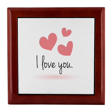 Jewelry Box I love you Jewelry and Keepsake Box - Memorable Treasures